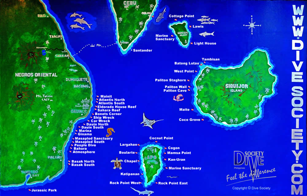 DIve Society's Dive Sites
